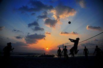 sunset-beach-volleyball